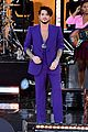 adam lambert pairs purple suit with silver heels for gmas summer concert series 11