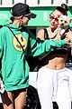 hailey bieber shows off her fit physique at the gym 09