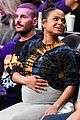 pregnant christina milian boyfriend matt pokora have date night at lakers game 04