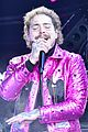 post malone hugs bts pink suit ball drop 11