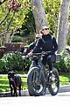 robin wright clement giraudet bike ride with dog 17