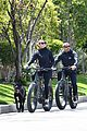 robin wright clement giraudet bike ride with dog 25