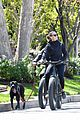 robin wright clement giraudet bike ride with dog 41