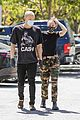 miley cyrus cody simpson wear masks on their coffee date 19