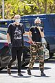 miley cyrus cody simpson wear masks on their coffee date 35