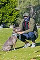 henry golding back at dog park with his foster dog 03