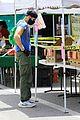 joel mchale buff biceps at farmers market 35