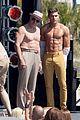 jake picking shirtless with zac efron 06
