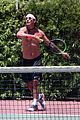 gavin rossdale goes shirtless playing tennis 10