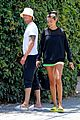 joel kinnaman kelly gale take their dog for a walk 05