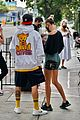 justin bieber hailey bieber cute pda out for breakfast 29