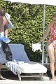 caroline wozniacki at the pool with david lee 19