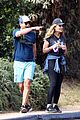 rob lowe maria shriver go for a walk 03
