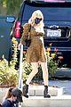 emma roberts dress baby bump gold black dress 01