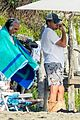 leonardo dicaprio at beach with emile hirsch 66