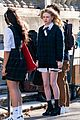Photo 40 of 'Gossip Girl' Stars Spotted in Their School Uniforms for Latest Scene (Photos)