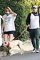 jon hamm anna osceola take his dog for a walk 35