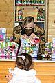 princess charlene monaco shaved half head gift distribution 06