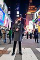 ryan seacrest lucy hale billy porter in times square 25