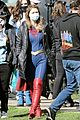 melissa benoist shows off her smile on supergirl set day before premiere 01
