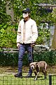 justin theroux takes his dog kuma to a park 03