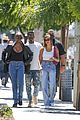hailey bieber grabs lunch with justine skye 03