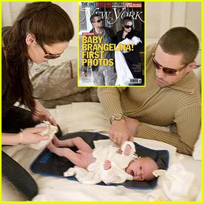 First Brad & Angelina Baby Photos