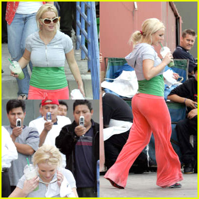 Britney Spears Sweat Stains