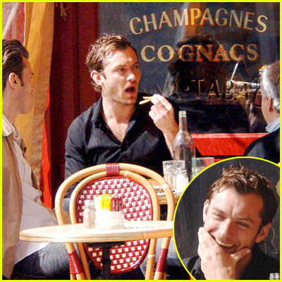 Jude Law Eating
