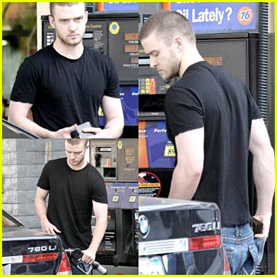 Justin Timberlake Pumping Gas
