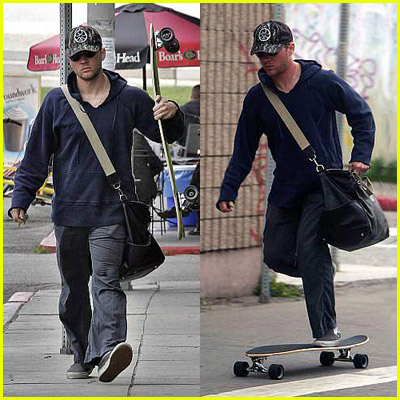 Ryan Phillippe Skateboarding