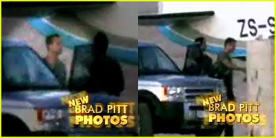 Brad Pitt Wearing Fedora