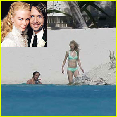 Nicole Kidman Bares Bikini on Honeymoon