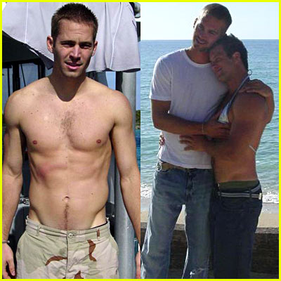 Paul Walker Shirtless
