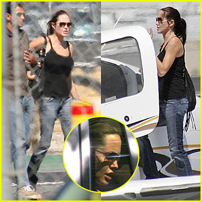 Angelina Jolie: Airplane Flying