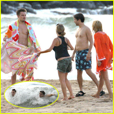 Leo & Tobey Beach Pictures