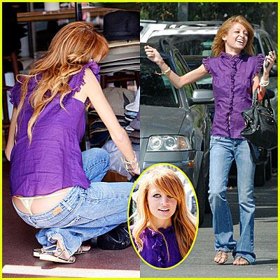 Nicole Richie's Thong Slip