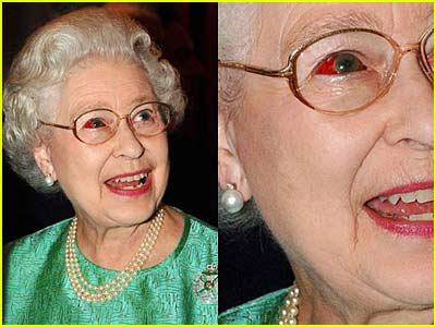 The Queen of England: 'Eye Can't See!'