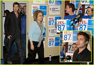 Brad Pitt Rocks the Vote