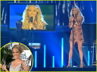 Carrie Underwood Takes Home Two @ CMAs