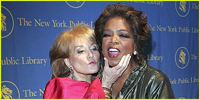 Barbara Walters Puckers Up