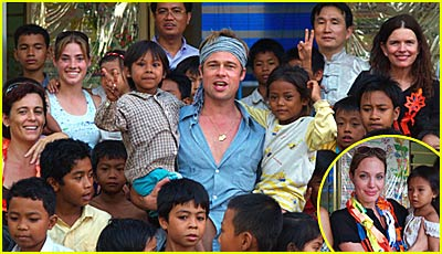 Brad & Angelina's Pictures in Cambodia