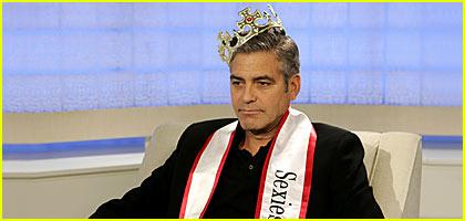 George Clooney Proudly Wears His Tiara