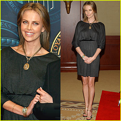 Charlize Theron Looks Golden