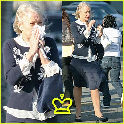 Helen Mirren... Blows Her Nose
