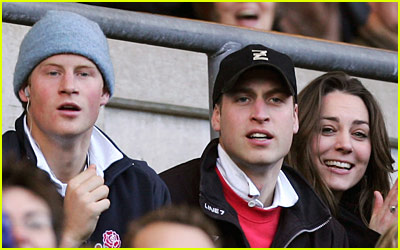 Wills, Kate and Harry Cheer England On