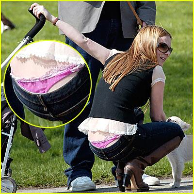 Geri Halliwell Wears Pink Panties