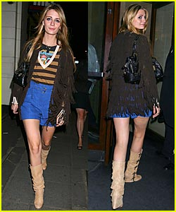 Mischa Barton in High-Waisted Shorts