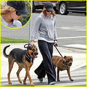 Jessica Biel & Her Furry Friend