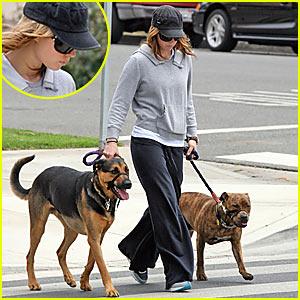 Jessica Biel & Her Furry Friend